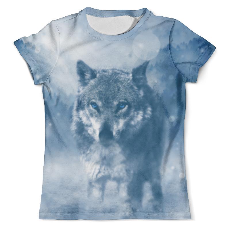 Футболка с полной запечаткой (мужская) Printio Волк с голубыми глазами каменная рамка printio волк с голубыми глазами
