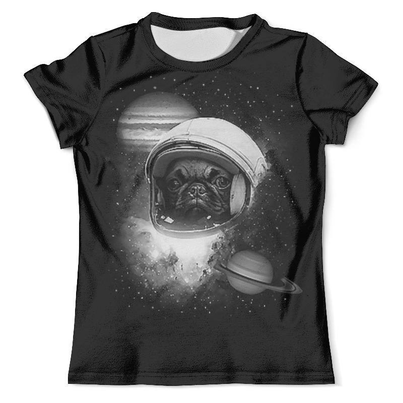 Футболка с полной запечаткой (мужская) Printio Собачка в космосе (1) футболка с полной запечаткой мужская printio добро пожаловать в восторг