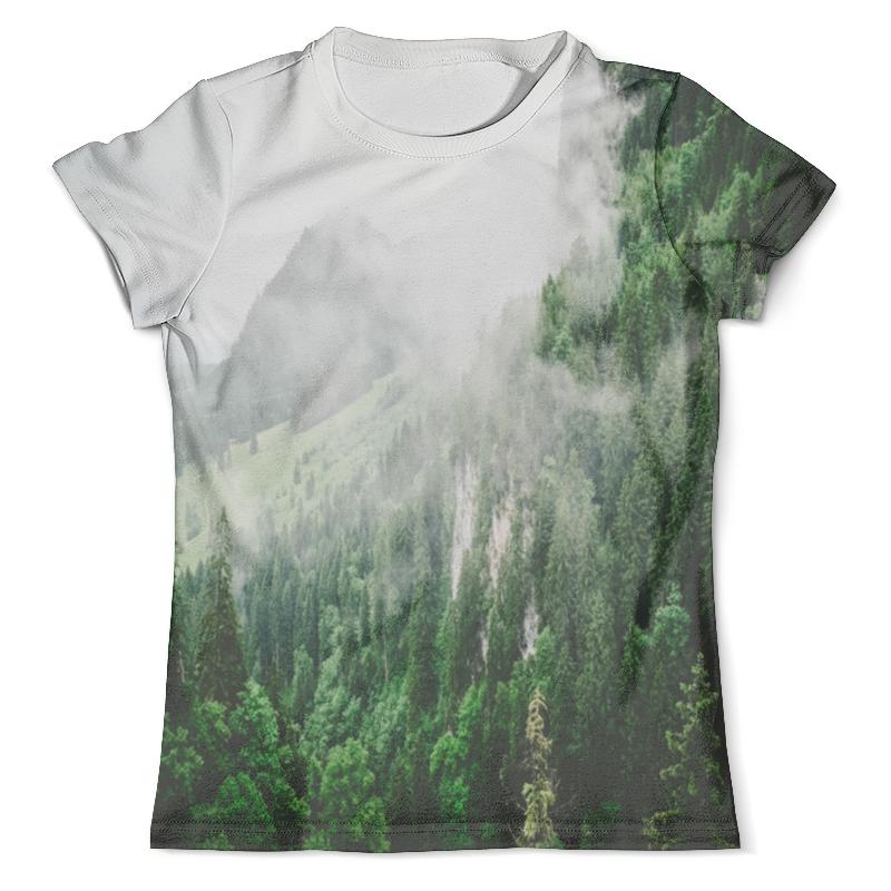 Футболка с полной запечаткой (мужская) Printio Туманные горы платье летнее printio туманные горы