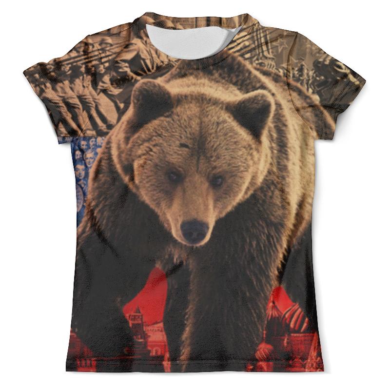 Футболка с полной запечаткой (мужская) Printio Медведь россия россия ск медведь 116 гр