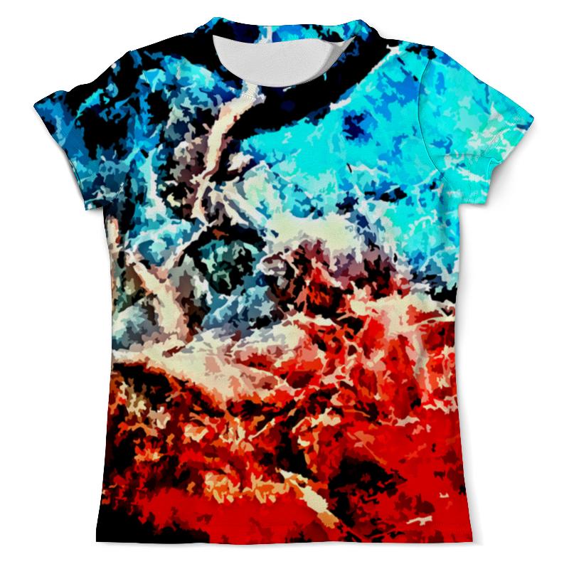 Футболка с полной запечаткой (мужская) Printio Лед и пламя рубашка поло с полной запечаткой printio лед и пламя