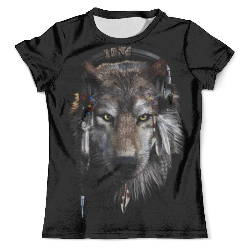 Футболка с полной запечаткой (мужская) Printio Волк в наушниках футболка с полной запечаткой мужская printio волк