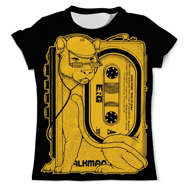 Футболка с полной запечаткой (мужская) Printio Walkman lion walkman