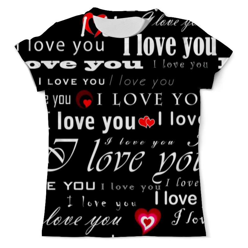 Printio Love you футболка с полной запечаткой мужская printio tell that you love me quotes