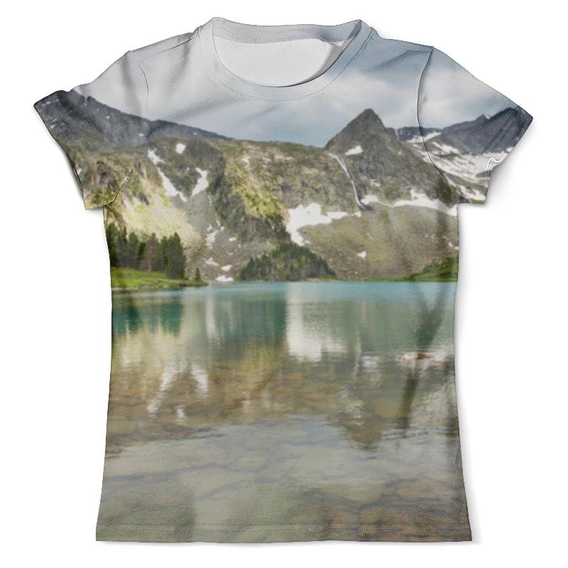 цена на Футболка с полной запечаткой (мужская) Printio Озеро в горах