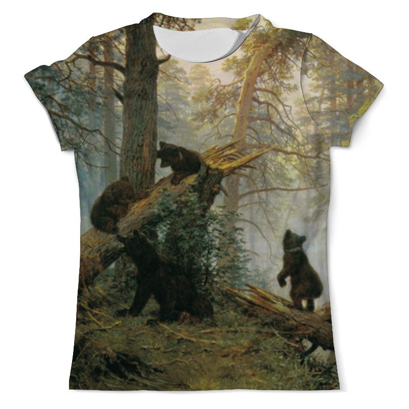 Футболка с полной запечаткой (мужская) Printio Утро в сосновом лесу платье без рукавов printio утро в сосновом лесу иван шишкин