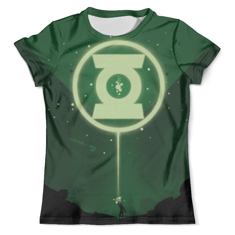 Футболка с полной запечаткой (мужская) Printio Green lantern/зеленый фонарь чехол для iphone 6 глянцевый printio зеленый фонарь green lantern