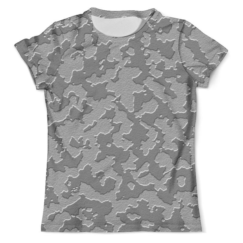 Футболка с полной запечаткой (мужская) Printio Тёмно-серый камуфляж футболка с полной запечаткой мужская printio красная шапочка и серый волк