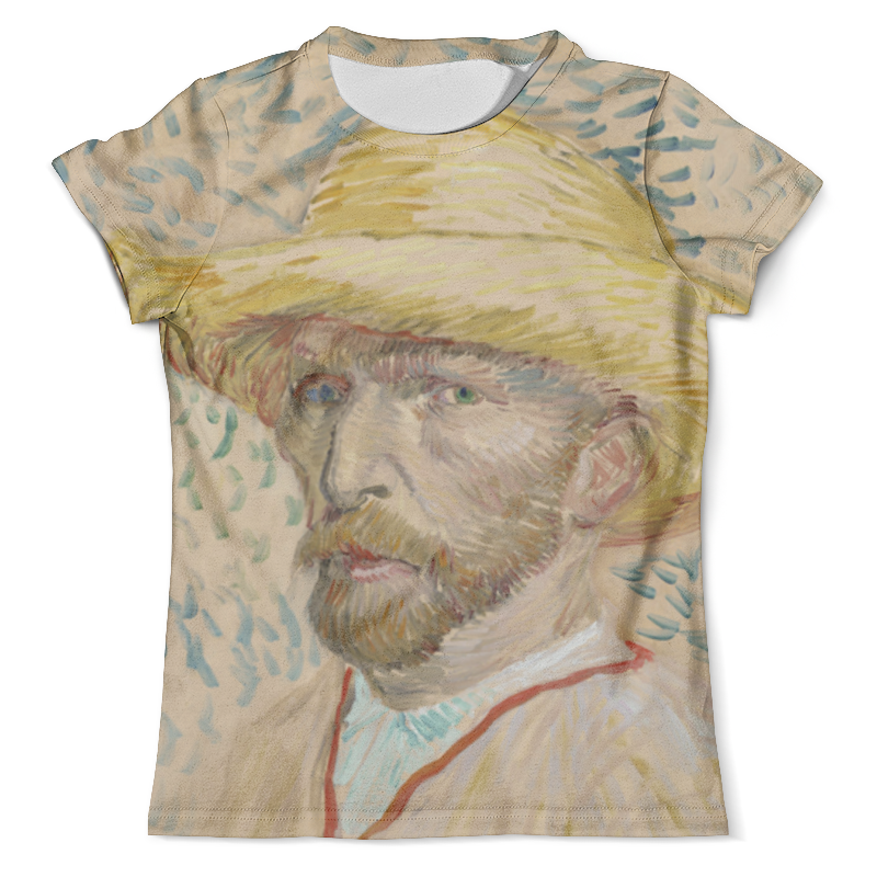 Футболка с полной запечаткой (мужская) Printio Винсент ван гог (автопортрет) футболка с полной запечаткой мужская printio винсент ван гог