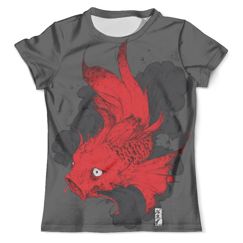 Футболка с полной запечаткой (мужская) Printio Scarlet fish / алая рыба