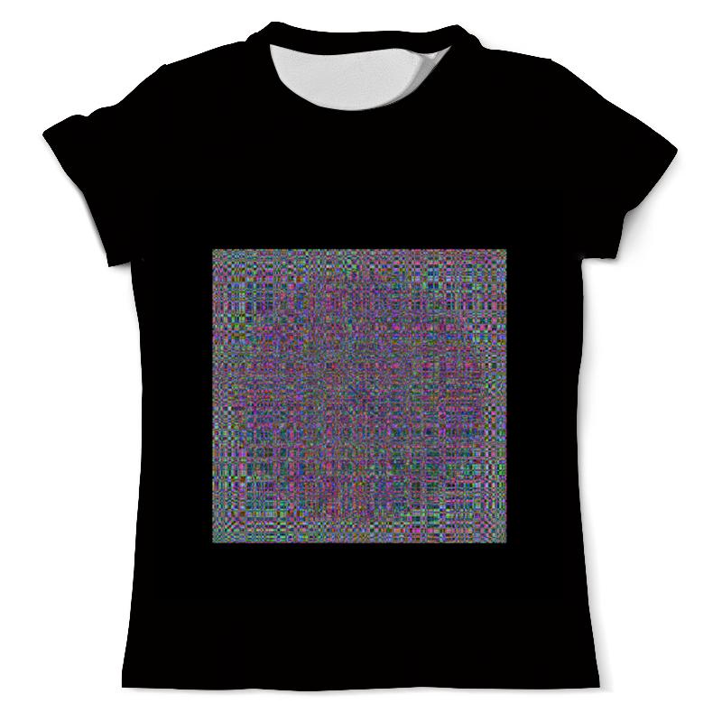 Футболка с полной запечаткой (мужская) Printio Glitch art (круг в квадрате) футболка с полной запечаткой для девочек printio glitch art круг в квадрате