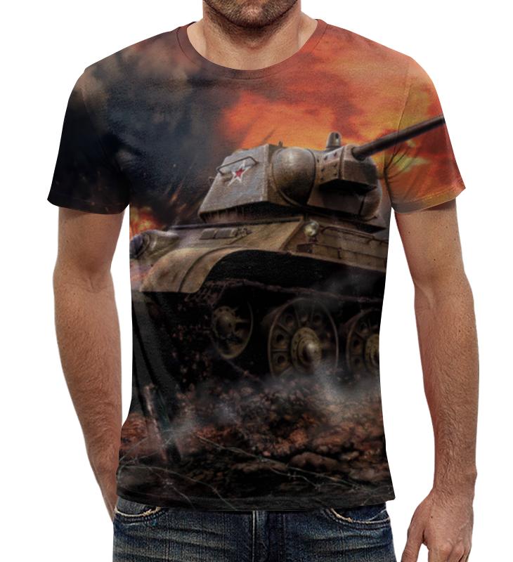 Футболка с полной запечаткой Printio Русский танк непобедим