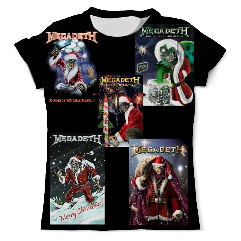 купить Футболка с полной запечаткой (мужская) Printio Megadeth new year недорого