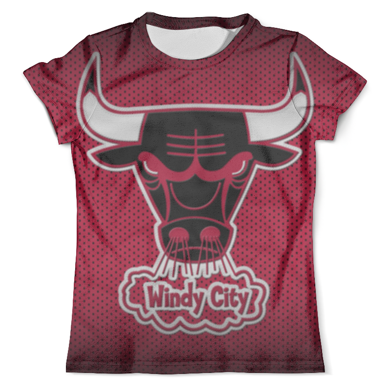 Футболка с полной запечаткой мужская Printio Чикаго буллз chicago bulls