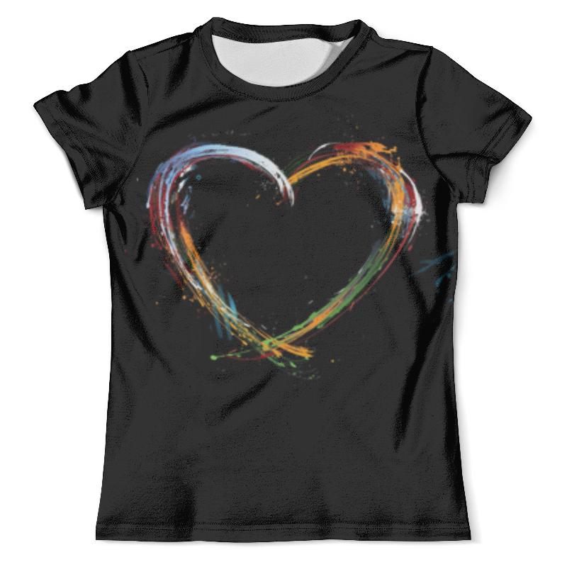 Футболка с полной запечаткой (мужская) Printio Любовь футболка с полной запечаткой мужская printio любовь моя религия