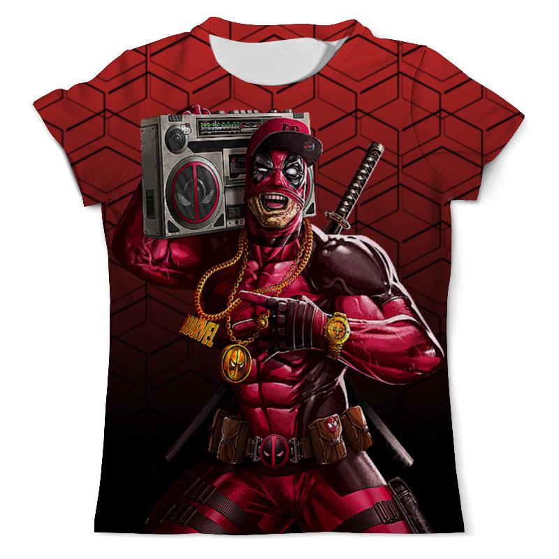 Фото - Футболка с полной запечаткой (мужская) Printio Deadpool music (new) чехол для iphone 5 глянцевый с полной запечаткой printio deadpool vs punisher