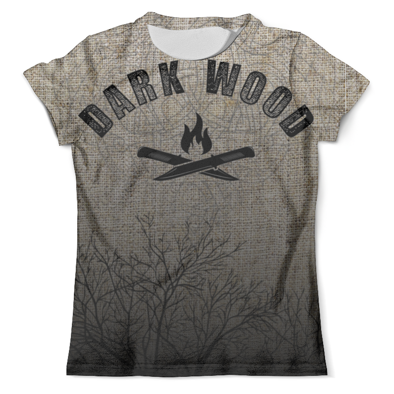 Футболка с полной запечаткой (мужская) Printio Dark wood ware r in a dark dark wood