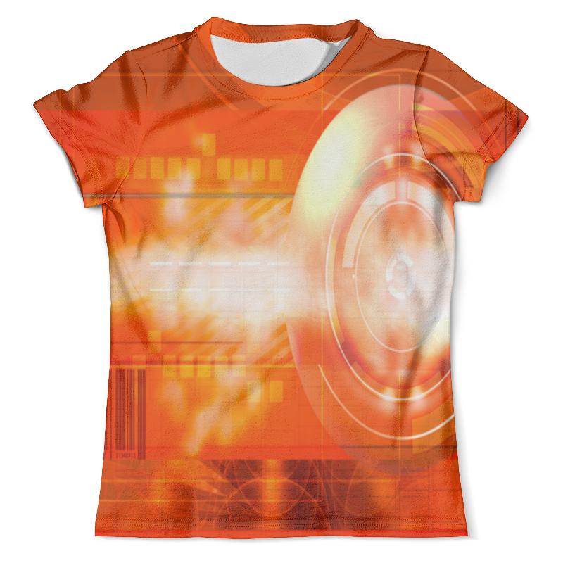 Футболка с полной запечаткой (мужская) Printio Оранжевая абстракция. футболка оранжевая