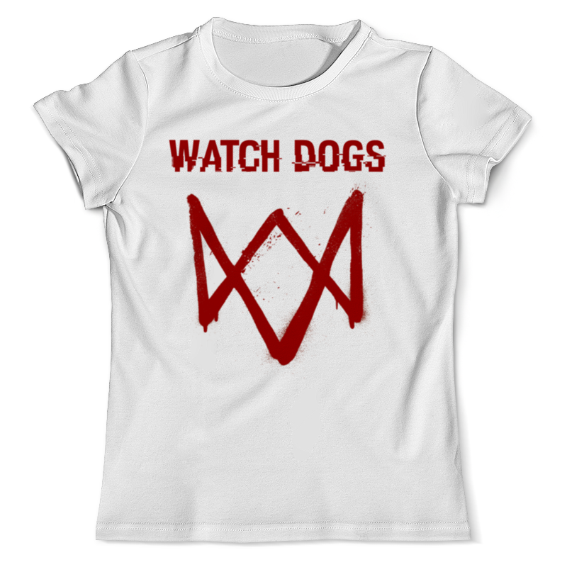 Футболка с полной запечаткой (мужская) Printio Watch dogs цена и фото