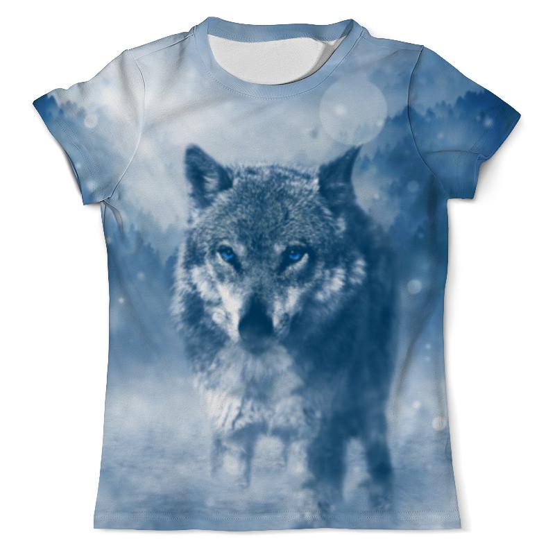 Футболка с полной запечаткой (мужская) Printio Волк с голубыми глазами полотенце soavita premium тигр 2 цвет черный оранжевый 65 х 135 см