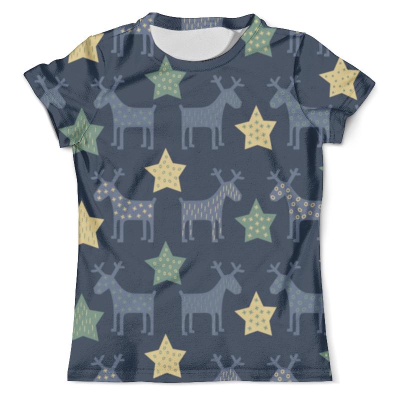 Футболка с полной запечаткой (мужская) Printio Новогодние олени футболка print bar новогодние олени