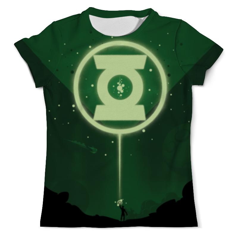 Футболка с полной запечаткой (мужская) Printio Green lantern/зеленый фонарь цена и фото