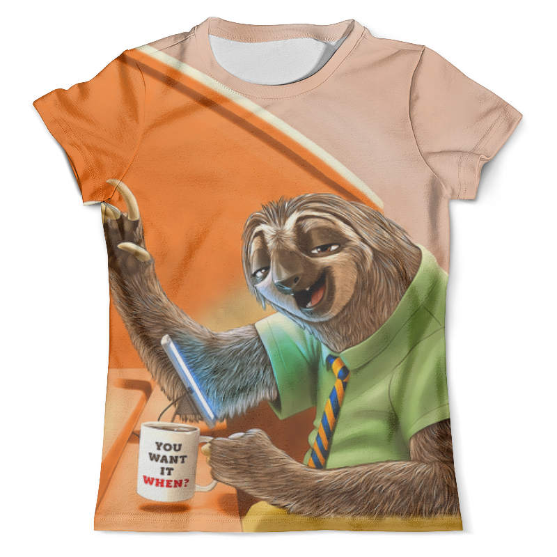 Футболка с полной запечаткой (мужская) Printio You want it when? футболка мужская influx of brand it kn