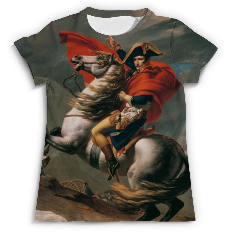Футболка с полной запечаткой (мужская) Printio Наполеон на перевале сен-бернар (жак-луи давид)