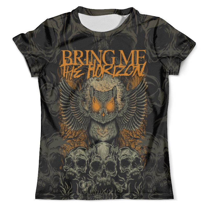 Футболка с полной запечаткой (мужская) Printio Bring me the horizon сова army of me футболка