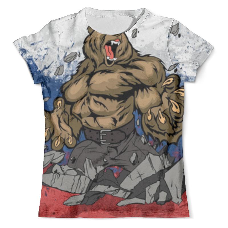 Футболка с полной запечаткой (мужская) Printio Русский медведь (russian bear) сумка printio russian bear русский медведь