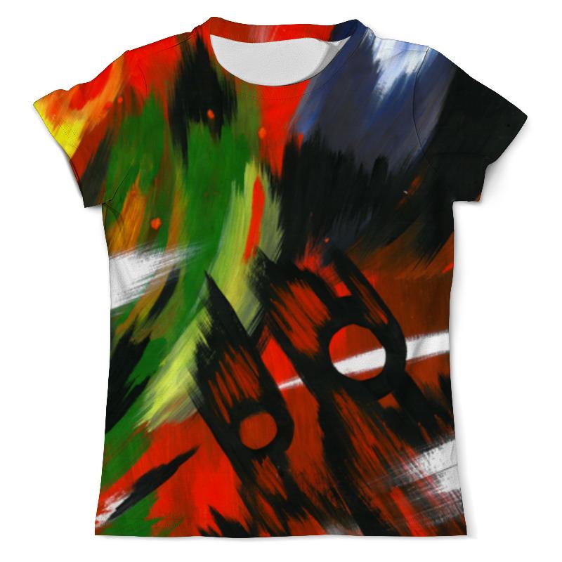 Футболка с полной запечаткой (мужская) Printio Красная абстракция с ножницами футболка с полной запечаткой мужская printio красная шапочка и серый волк 3