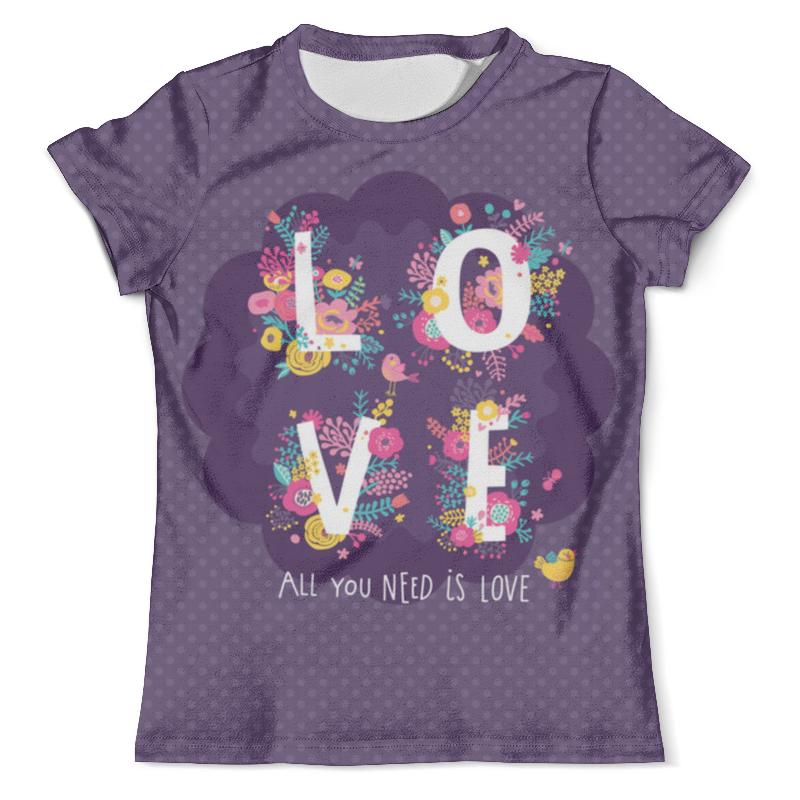 Футболка с полной запечаткой (мужская) Printio All you need is love. парные футболки футболка с полной запечаткой мужская printio love is