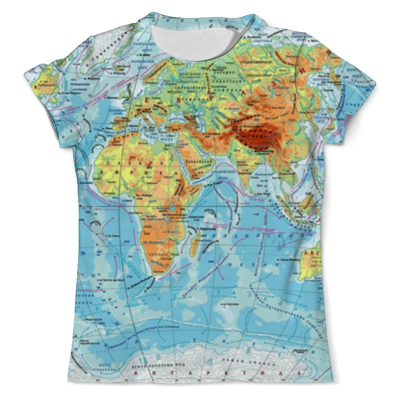 Футболка с полной запечаткой (мужская) Printio Карта мира футболка с полной запечаткой мужская printio карта мира вселенная