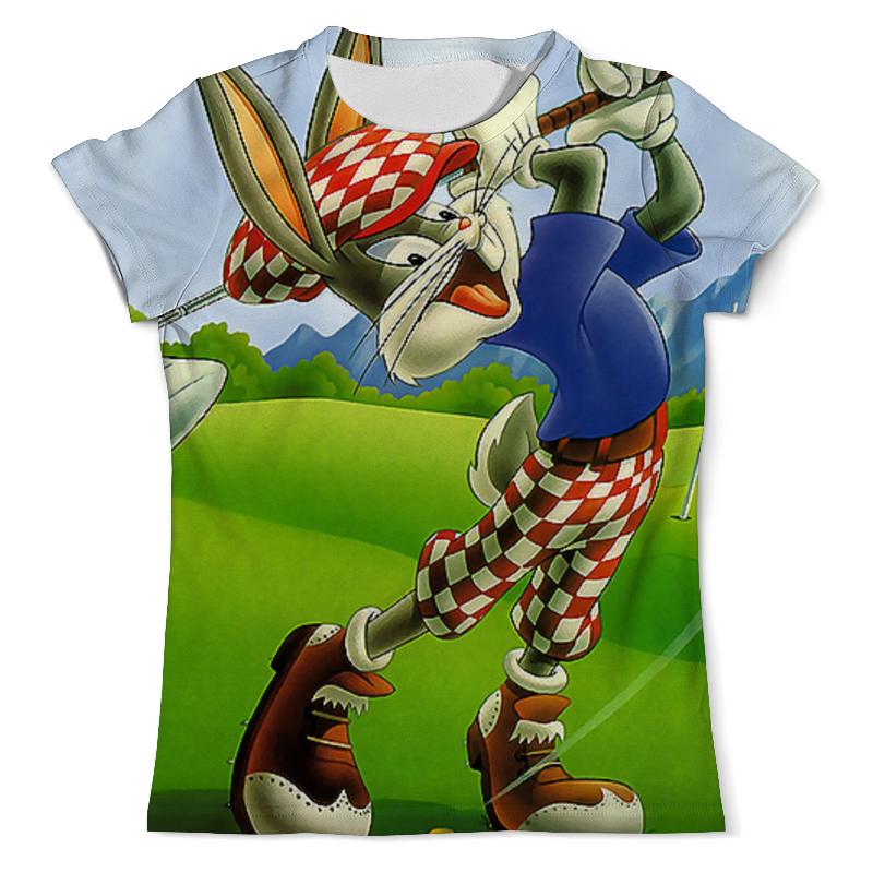 Футболка с полной запечаткой (мужская) Printio Кролик гольфист цена