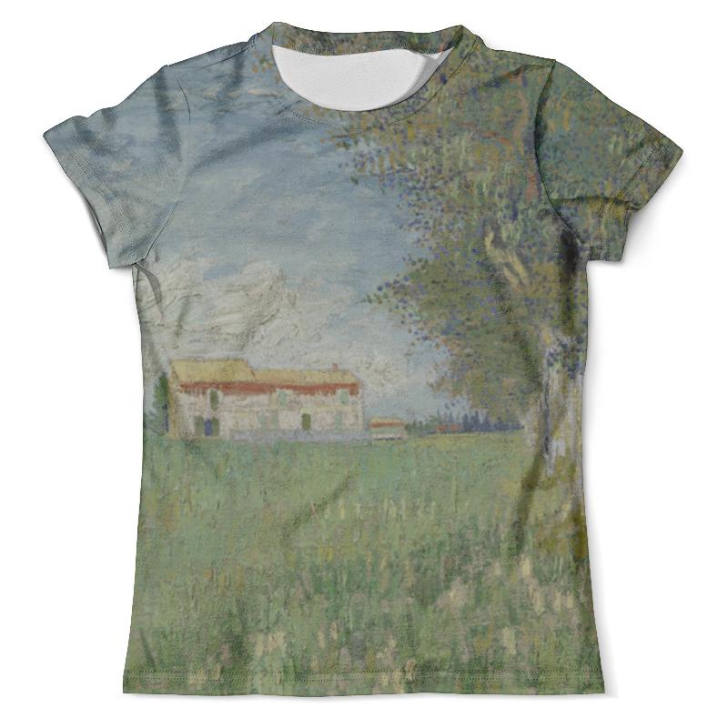 Футболка с полной запечаткой (мужская) Printio Ферма в пшеничном поле (винсент ван гог) футболка с полной запечаткой мужская printio винсент ван гог