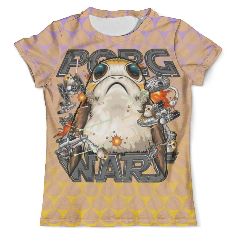 Футболка с полной запечаткой (мужская) Printio Porg a star wars story футболка с полной запечаткой мужская printio robots love story star wars