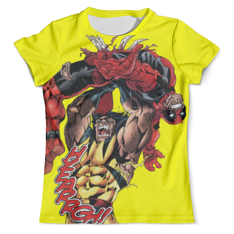 Футболка с полной запечаткой (мужская) Printio Deadpool vs wolverine