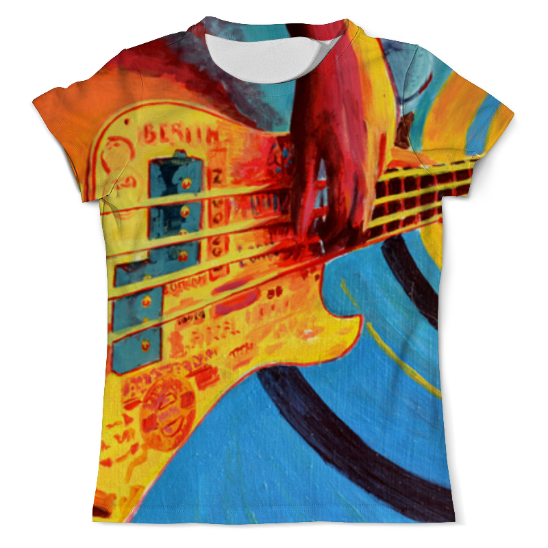 Футболка с полной запечаткой (мужская) Printio Bass guitar adjustable new brand lcd clip on electric tuner for guitar chromatic bass violin ukulele universal portable guitar tuner