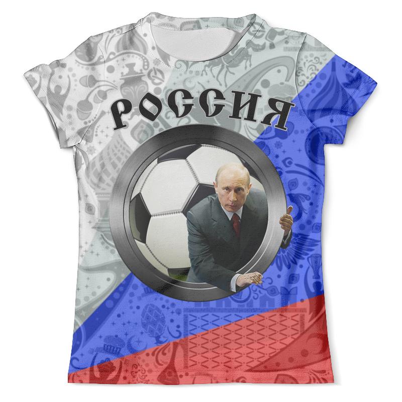 Футболка с полной запечаткой (мужская) Printio Россия design (putin) футболка с полной запечаткой мужская printio юра россия