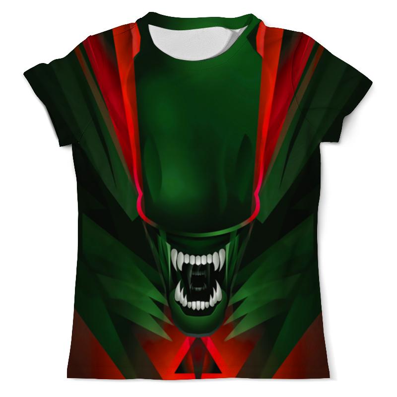 Футболка с полной запечаткой (мужская) Printio Alien design цена