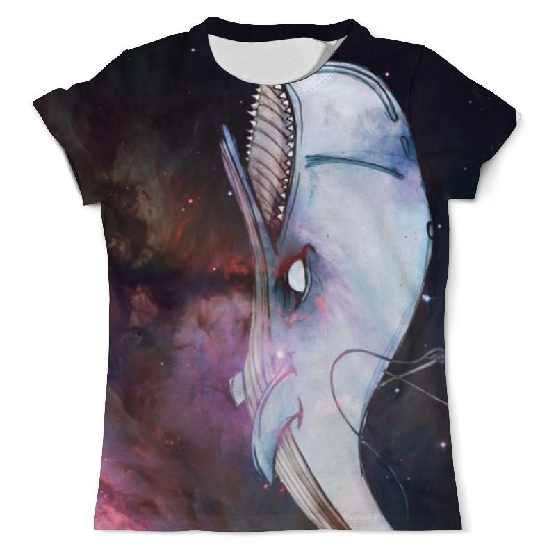Футболка с полной запечаткой (мужская) Printio Космический кит цена и фото