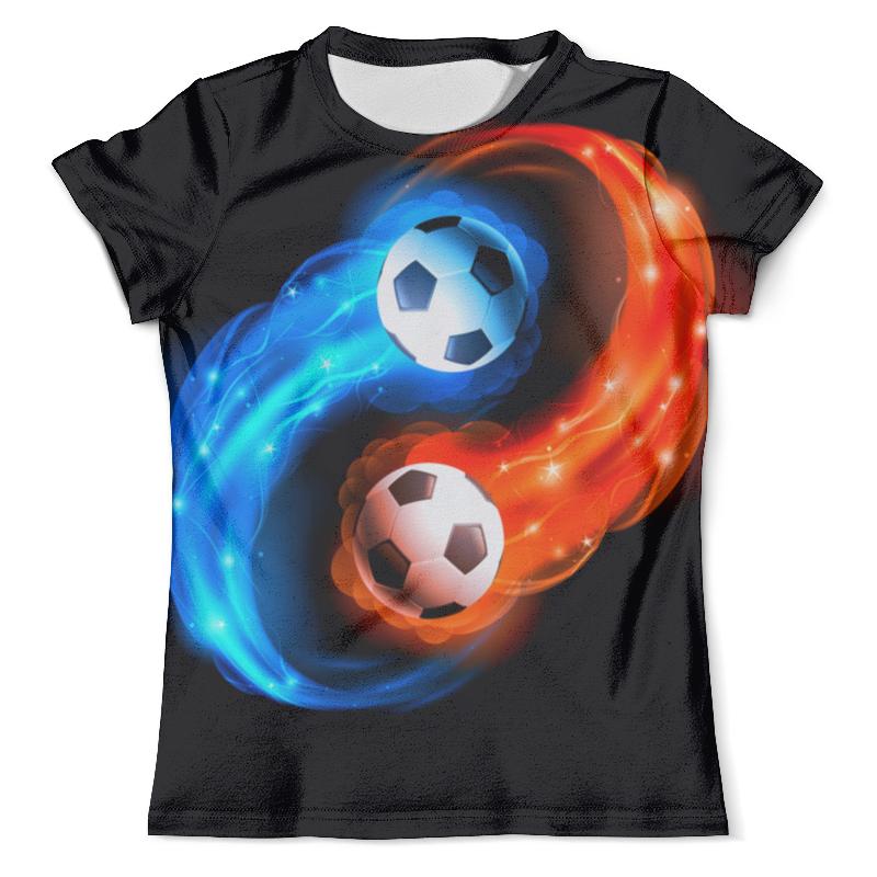 Футболка с полной запечаткой (мужская) Printio Футбольные мячи