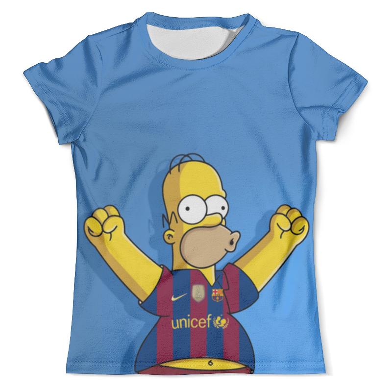 Футболка с полной запечаткой (мужская) Printio Гомер симпсон футболист футболка с полной запечаткой мужская printio футболист