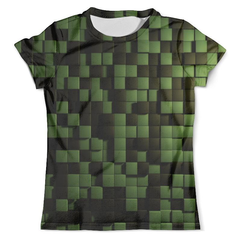 Футболка с полной запечаткой (мужская) Printio Зеленые кубики кубики мди
