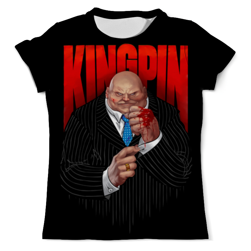 Футболка с полной запечаткой (мужская) Printio Kingpin game kingpin born against