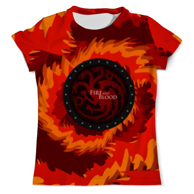 Футболка с полной запечаткой (мужская) Printio Fire and blood футболка с полной запечаткой мужская printio dota 2 lina on fire