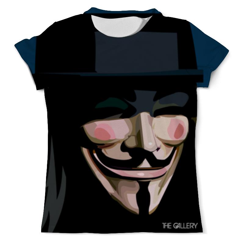 Футболка с полной запечаткой (мужская) Printio Вендетта футболка с полной запечаткой мужская printio v значит вендетта v for vendetta