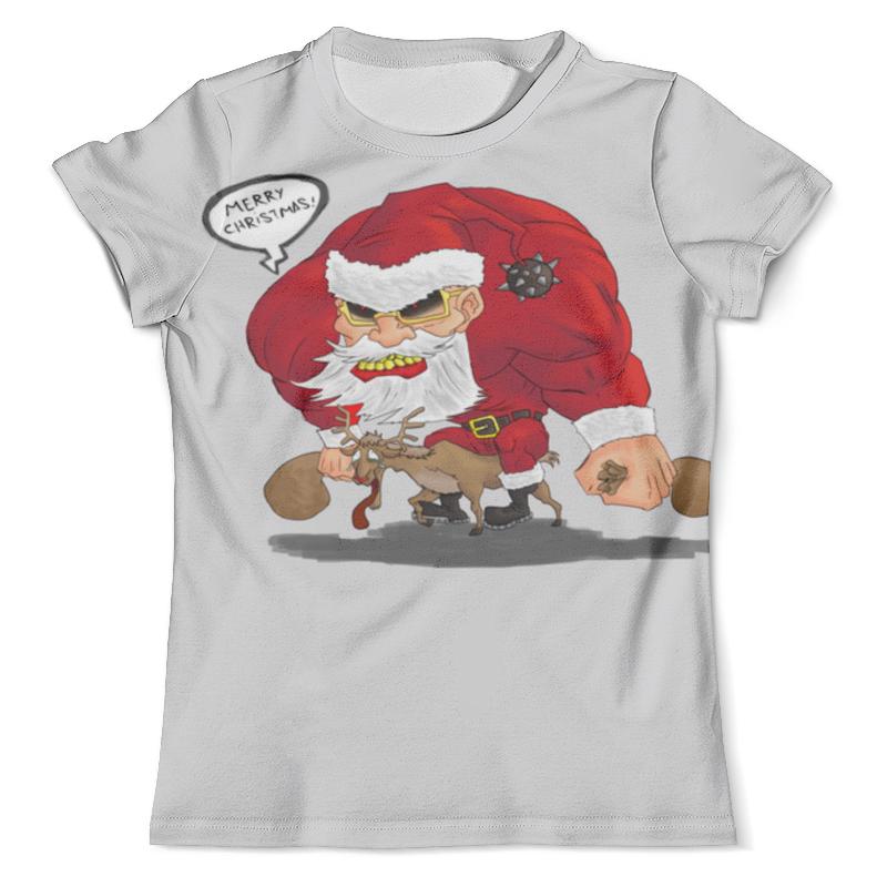 Футболка с полной запечаткой (мужская) Printio Merry christmas - рокер санта футболка с полной запечаткой для мальчиков printio merry christmas рокер санта