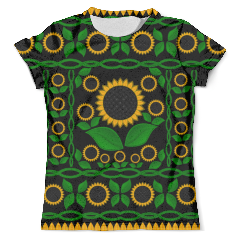 Футболка с полной запечаткой (мужская) Printio Подсолнух футболка с полной запечаткой женская printio подсолнух