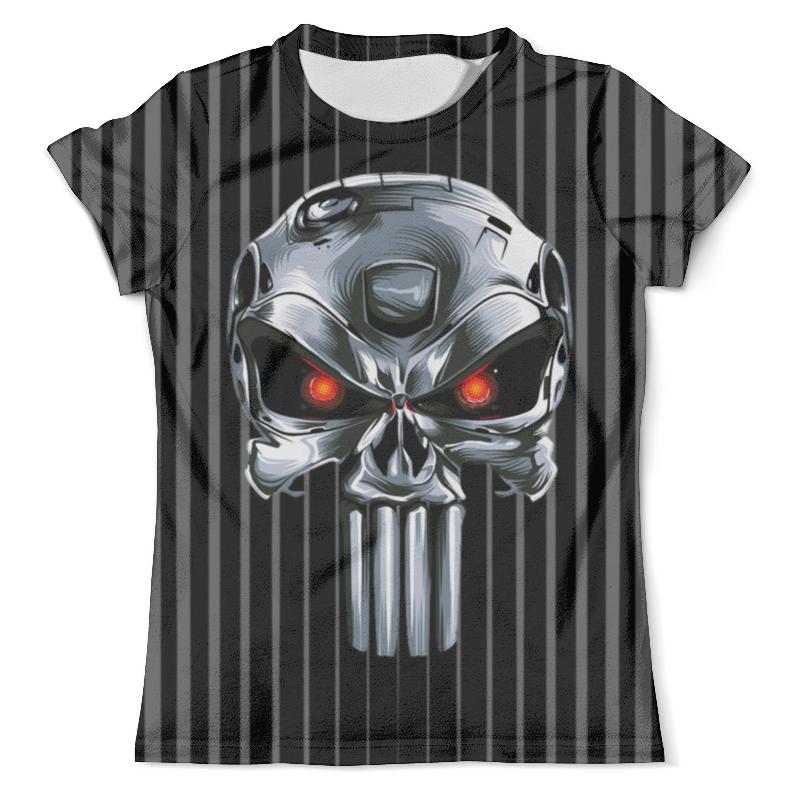 Футболка с полной запечаткой (мужская) Printio Punisher of the future (terminator) design лонгслив printio punisher of the future